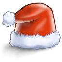 128x128px size png icon of santa hat