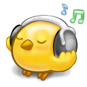 128x128px size png icon of software songbird