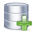 128x128px size png icon of system database add