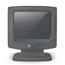 128x128px size png icon of system monitor off