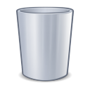 128x128px size png icon of system trash