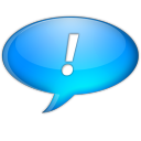 128x128px size png icon of Chat bleu