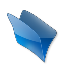 128x128px size png icon of Dossier bleu