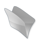 128x128px size png icon of Dossier gris