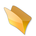 128x128px size png icon of Dossier jaune
