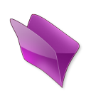 128x128px size png icon of Dossier violet