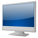 128x128px size png icon of TV ecran plat