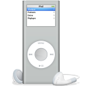128x128px size png icon of iPod nano argente