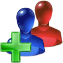 128x128px size png icon of Add Group