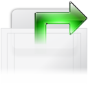 128x128px size png icon of Tab Duplicate