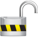 128x128px size png icon of Unlock