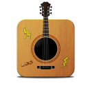 128x128px size png icon of guitar