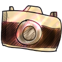 128x128px size png icon of camera 2