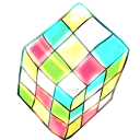 128x128px size png icon of rubik cube