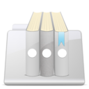 128x128px size png icon of Library Folder smooth