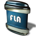 128x128px size png icon of File FLA