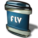 128x128px size png icon of File FLV