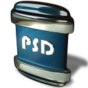 128x128px size png icon of File PSD