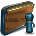 128x128px size png icon of Folder My Shared Music