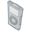 128x128px size png icon of IPod Grey