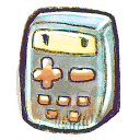128x128px size png icon of G12 Calculator