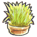 128x128px size png icon of G12 Flowerpot Grass