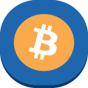 128x128px size png icon of bitcoin
