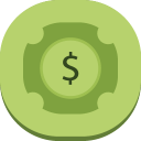 128x128px size png icon of dollar