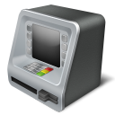 128x128px size png icon of atm money