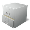 128x128px size png icon of file cabinet
