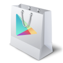 128x128px size png icon of google play