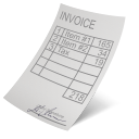 128x128px size png icon of invoice