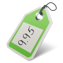 128x128px size png icon of price tag