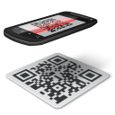 128x128px size png icon of qr code