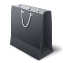 128x128px size png icon of shopping bag