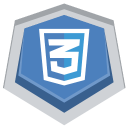 128x128px size png icon of CSS3