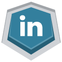 128x128px size png icon of Linkedin