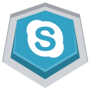 128x128px size png icon of Skype