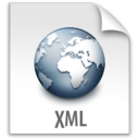 128x128px size png icon of z File  XML