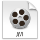 128x128px size png icon of z File AVI