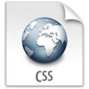 128x128px size png icon of z File CSS