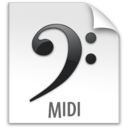 128x128px size png icon of z File MIDI