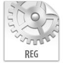 128x128px size png icon of z File REG