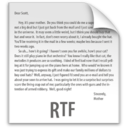 128x128px size png icon of z File RTF