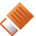 128x128px size png icon of Actions draw eraser