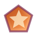 128x128px size png icon of Actions draw polygon star