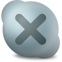 128x128px size png icon of Actions skype contact offline