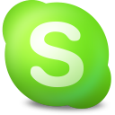 128x128px size png icon of Actions skype contact online