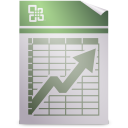 128x128px size png icon of Mimetypes application vnd.ms excel