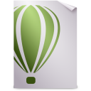 128x128px size png icon of Mimetypes cdr